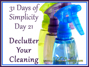 how to simplify your cleaning routine DIY cleaners